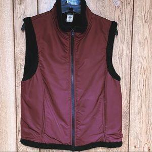 Prana Vest Fleece Lined Full Zip Faux Fur Womens M